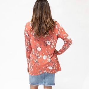 evys tree Tops - Evys Tree Janelle New Hoodie XS M Orange floral